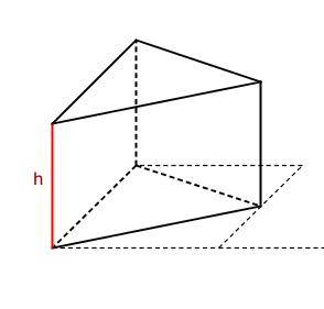 das volumen eines prismas mit einem dreieck als grundfl che ist das pictures to pin on pinterest. Black Bedroom Furniture Sets. Home Design Ideas