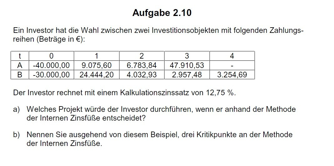 Internen Zinsfuß Berechnen : internen zinsfu berechnen onlinemathe das mathe forum ~ Themetempest.com Abrechnung