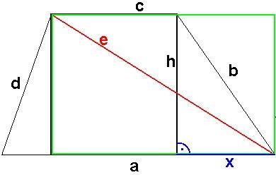diagonalen bei trapez berechnen onlinemathe das mathe forum. Black Bedroom Furniture Sets. Home Design Ideas
