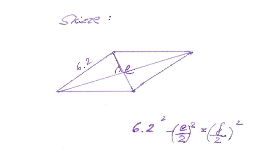 raute formel f r diagonale e mit pythagoras satz. Black Bedroom Furniture Sets. Home Design Ideas