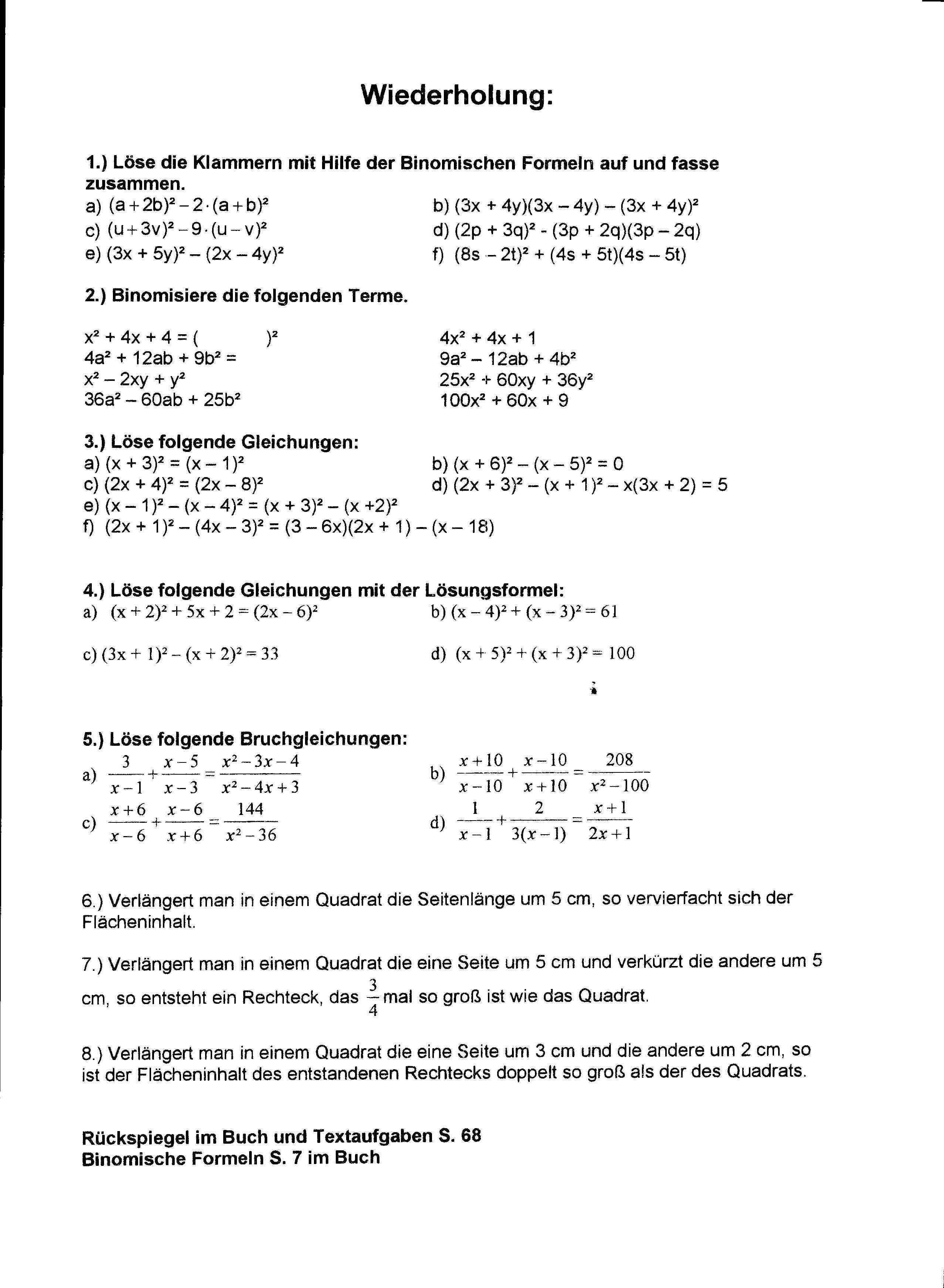 Mathe Textaufgaben